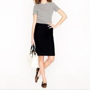 J. Crew Black Pencil Skirt with Pockets
